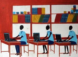 Bibliothèque-Salle informatique