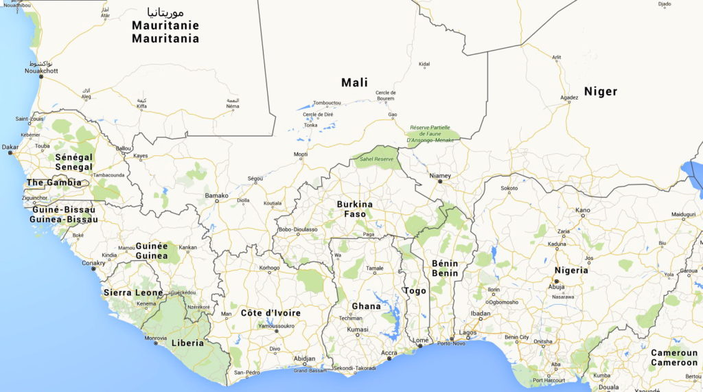 carte Burkina